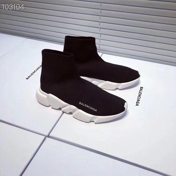 Moda de lujo que hace punto Zapatos de calcetín Diseñador Zapatillas de deporte Velocidad Zapatillas de entrenamiento planas Hombres Mujeres Casual Calcetines elásticos botas Parejas