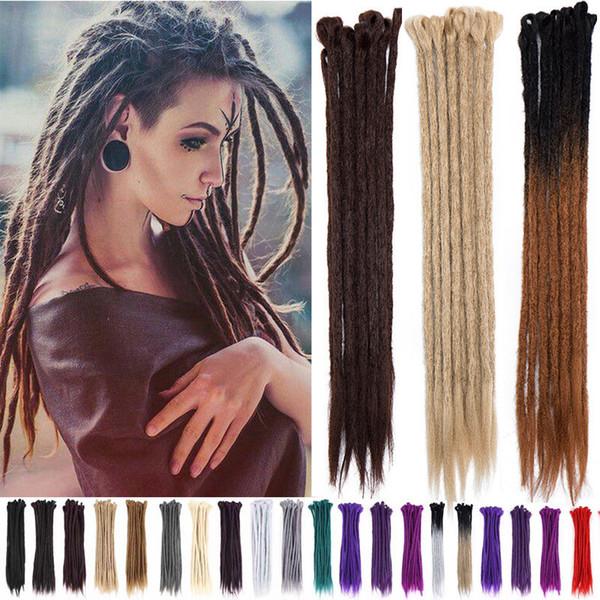 Caldo! Estensioni dei capelli all'uncinetto a mano Dreadlocks Kanekalon Capelli sintetici Hip-Hop Dreadlock per donne e uomini 20 24 pollici