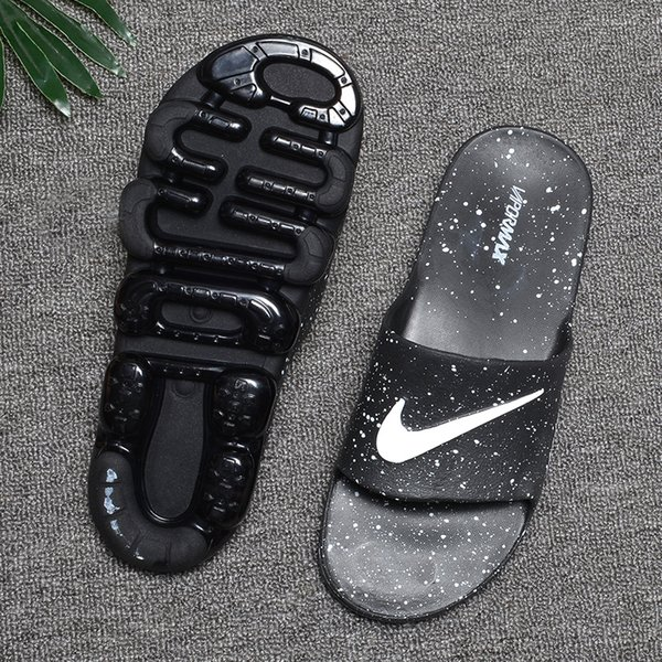 Wholesale Summer men Breathable Comfortable Slippers with air cushion Brand Designer Slides soft Sandals SIZE 40-45