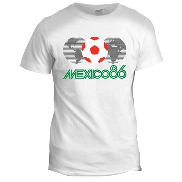 Mexico 86 Football World Cup Mascot Pique Tumblr Soccer Mens Retro T Shirt Short Sleeve Discount 100 % Cotton T Shirts