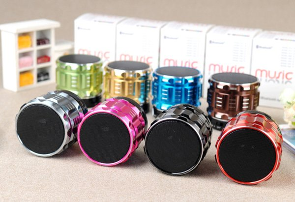 Metal Mini Portable Bluetooth Speaker Stereo S28 Wireless Loudpeaker with MIC HiFi Music Player For Mobile Phone Xiaomi Mp3 Free DHL