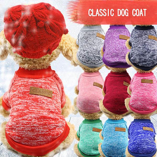 Classici Dog Pet Cappotti morbido di Natale di Halloween caldo camicia difensiva cotone freddo del gatto del cucciolo Knitting Cani Maglione Abbigliamento Abbigliamento XS-2XL