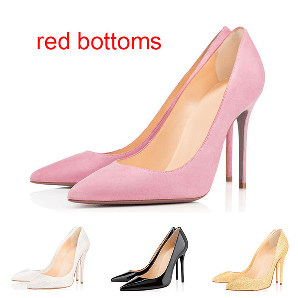34ee2fd3569 With Box Luxury Designer Women Shoes Red Bottom High Heels 8cm 10cm 12cm  Nude Black Red Pink Leather Pointed Toes Pumps Dress Shoe Strappy Heels  Geox ...
