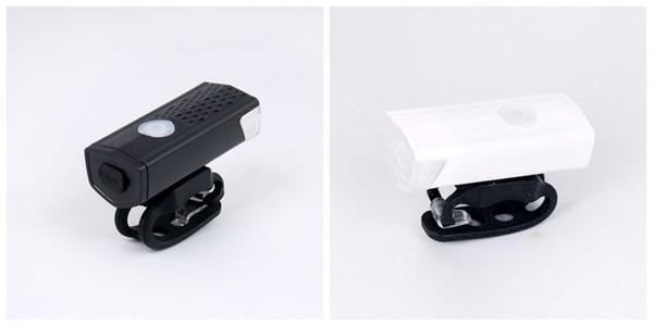 ABS USB Charging Bike Lights Waterproof Super Bright Lasting Eco Friendly Easy To Install Durable Headlights Power Saving 12atI1