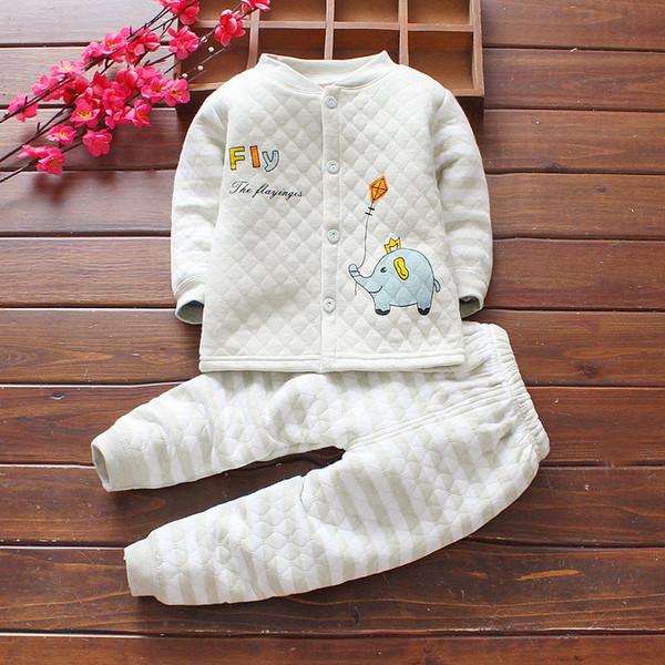 295f640373 Buena calidad para niños ropa conjunto primavera otoño niños ropa de  dibujos animados de algodón niñas