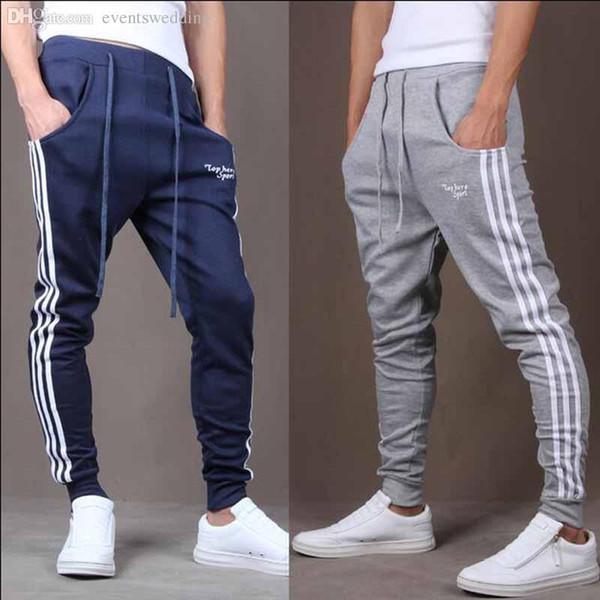 Wholesale -Cool Design Men Casual Sweatpants Big Pocket Summer Gym Clothing Army Trousers Hip Hop Harem Pants Mens Joggers 3 Colors