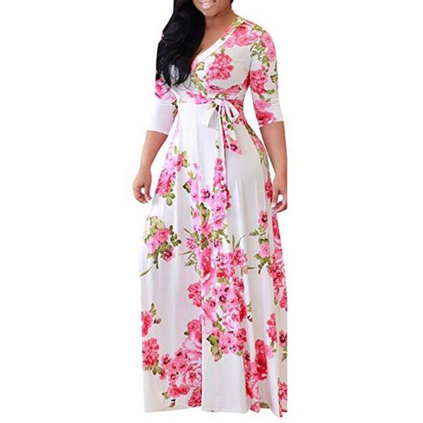Atacado Designer de Vestidos Para As Mulheres Saias Florais Outono Marca Vestidos de Alta Qualidade Mulheres Plus Size Roupas 5 CoresDisponível