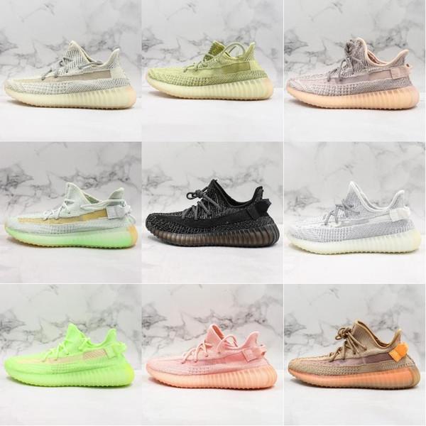 Новый цвет Kanye West Gid Glow Synth Lundmark Antlia Светоотражающие дизайнерские туфли Hyperspace Clay Trfrm Beluga 2.0 Core Черные мужские кроссовки Zebra