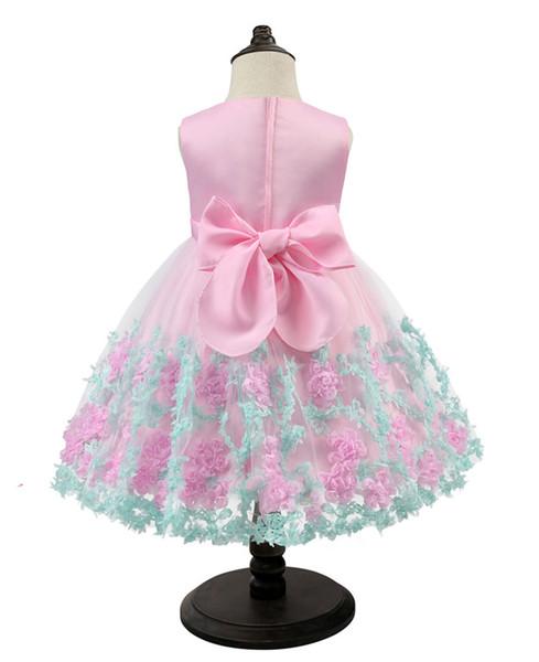 Vendendo diretamente crianças roupas vestido de princesa para meninas crianças criança natal e new yearprincess traje flor menina vestido