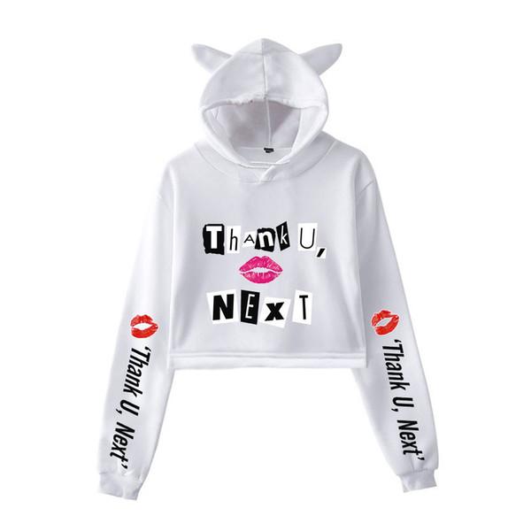 kostenloser Versand anders Geschäft Großhandel Ariana Grande Langarm Frauen Designer Hoodies Sweatshirts Damen  Sexy Katze Luxus Hoodie Pullover Lässig Jacke Kleidung Sweatshirt Von ...