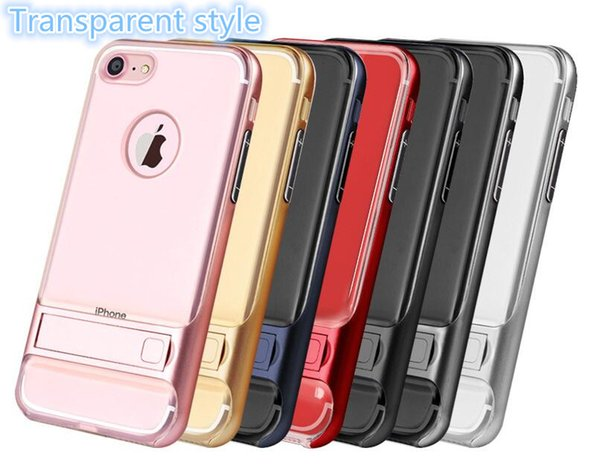 High-quality mobile phone case transparent bracket two-in-one armor mobile phone protective jacket for iphone X XS XR