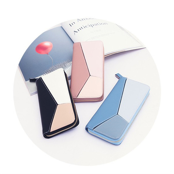 Designer di lusso Portafogli donna lunga cerniera Grande capacità multi funzionale moda cuciture e colore Bumping Handset Designer borsa calda