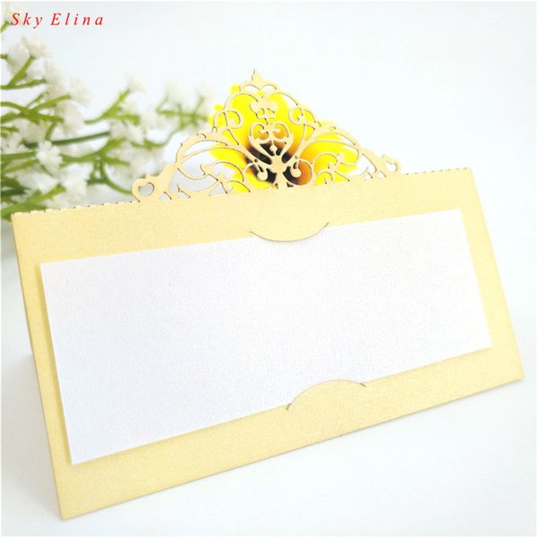 10pcs/Lot Hollow out Luxury Table Name Place Cards Wedding Christmas Birthday Party Invite Cards Table gift card 7zsh87