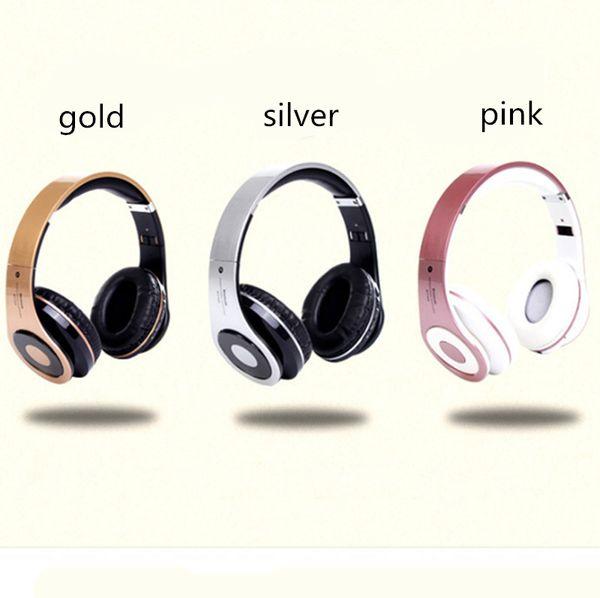 BT768 wireless Bluetooth headset headband earphones plug-in card sports stereo headset folding headset for IOS Andorid