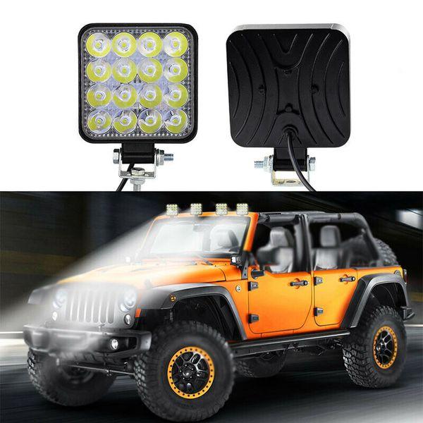 48W su geçirmez Sel LED Çalışma Lambaları Sürüş Lambası Sis Lambaları 12V 24V Kamyon Römork Araç Off-Road SUV LED Farlar ışıklandırmalı için