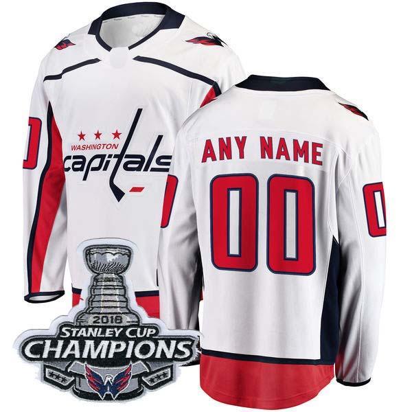 흰색 2018 Stanley Cup Champion 패치
