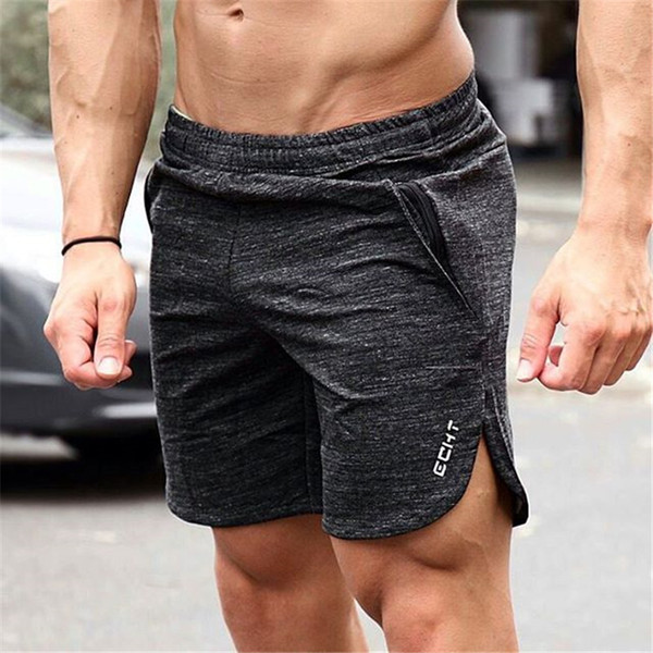 Pantalones cortos de los hombres clásicos sólido de la manera pantalones cortos de malla de los hombres de secado rápido elástico para hombre de los troncos de verano de la cintura de los hombres minorista