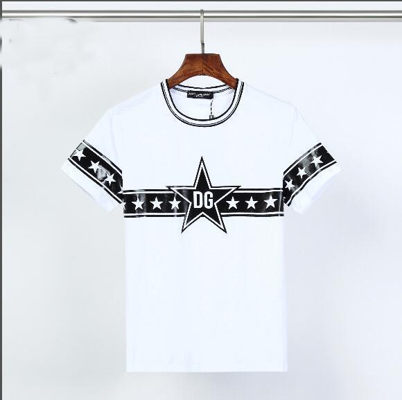 2020 Fashion Der König Royal Crown DG Stern druckte T-Shirts Männer Frauen Designer-T-Stück beiläufige Street Slim Fit Baumwolle Tops