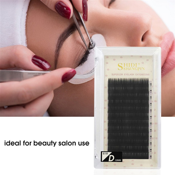 SHIDISHANGPIN Fake Eyelashes Extension Individual False Lashes B C D Curl Black Volume Eyelashes Extension Supplies Beauty Salon Use