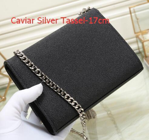 Como Pic 12 Caviar prata Tassel-17 centímetros