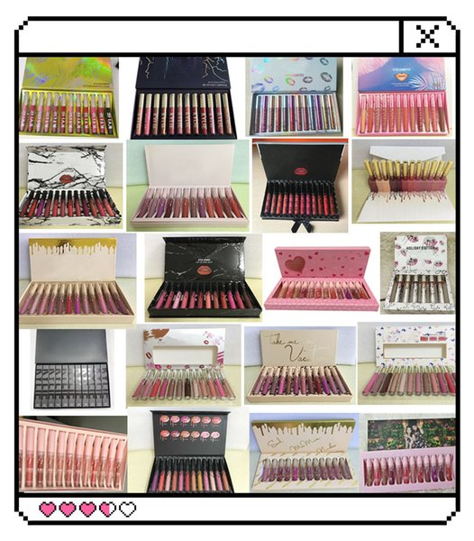 best selling 2019 new lipstick In stock ! New Makeup Lipstick High-quality 12 Popular color =1set Matte Lip Gloss DHL free shipping 10pcs