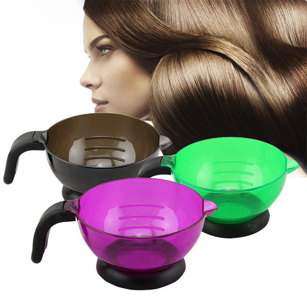 Dyeing Hair Plastic Mixing Bowls Barber Salon Hair Color Bowl Mixing Suction Cup Coloring Styling Tools LLA473