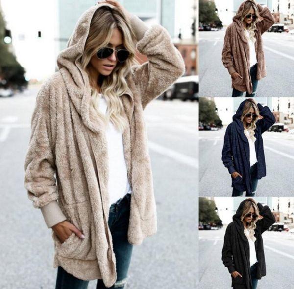 new spring and autumn Faux Fur Coat Women Fashion Hooded Streetwear Two Side Wear Winter Coat Women Warm and Comfort Overcoat