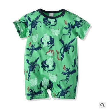 Ropa de diseñador para niños Chicos de dibujos animados Dinosaur Romper mono 2019 verano de manga corta mono mameluco del bebé Onesie infantil del niño ropa