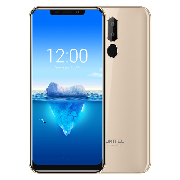 "6.18"" U-notch Full Screen OUKITEL C12 Pro 4G LTE 64-Bit Quad Core MTK6739 2GB 16GB Android 8.1 Rear Fingerprint Touch ID 3300mAh Smart Phone"