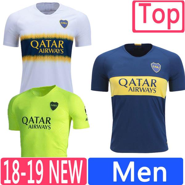 18 19 Boca Juniors Club Men Soccer Jerseys MARADONA BENEDETTO CARDONA CARLITOS ROMAN TEVEZ Top Thailand Football Shirts Uniform