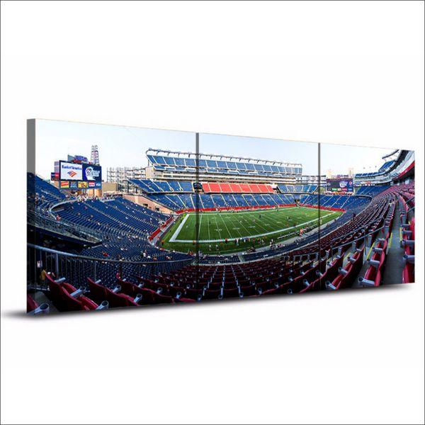 Stadion, 3 Stücke Leinwanddrucke Wandkunst Ölgemälde Wohnkultur (Ungerahmt / gerahmt) 16x16x3.
