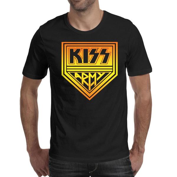 Men design printing Kiss Art Rock black t shirt printing undershirt vintage designer band shirts awesome t shirt creator humorous stripe
