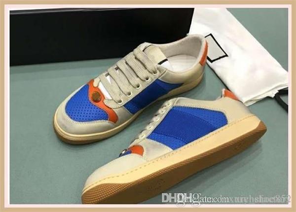 Calzado casual para hombre de lujo Plataforma hombres de la modadiseñadorZapatillas de deporte del cuero de gamuza remiendo Formadores ocio de los zapatos e01
