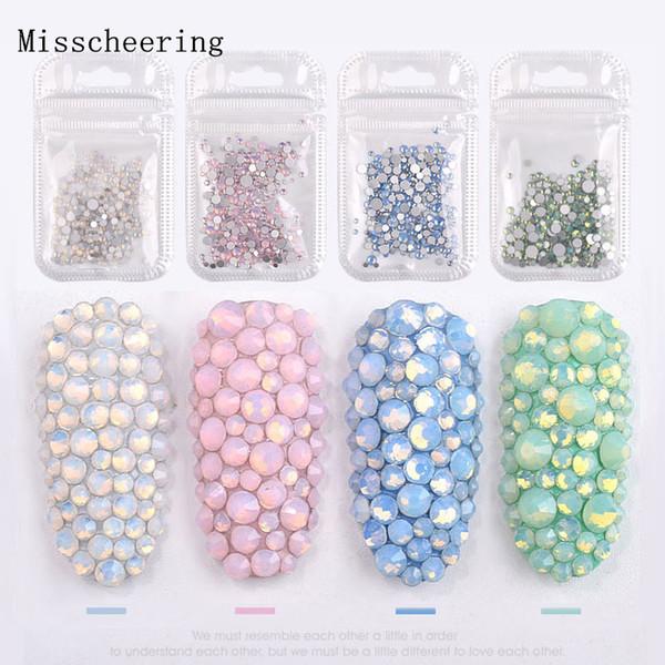 1pack Mixte Taille (SS4-SS20) Cristal Coloré Opale Nail Art Décorations En Strass Paillettes Gemmes 3D Manucure Livres Accessoire Outils C19011401