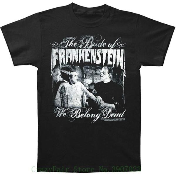 8bd1df326 Universal Monsters Men's We Belong Dead T-shirt Men's High Quality Custom  Printed Tops Hipster