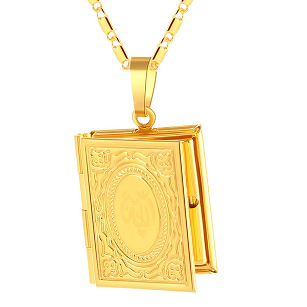 New Fashion Picture Frame Style Boy Or Girl Muslim Pendant Necklace For Religious Jewelry Gifts