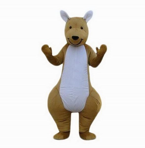 Professional custom brown Kangaroo Mascot Costume cartoon wid animal character Clothes Halloween festival Party Fancy Dress