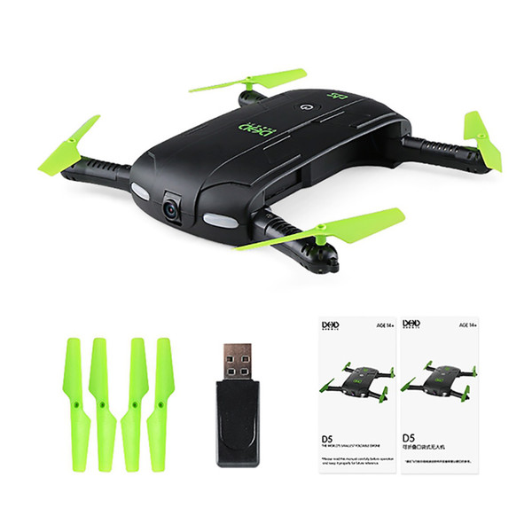 Remote Control Toys Helicopters New Mini Foldable RC Pocket Drone Dron Toys WiFi FPV 0.3MP Camera Drones G-sensor Mode Waypoints RC
