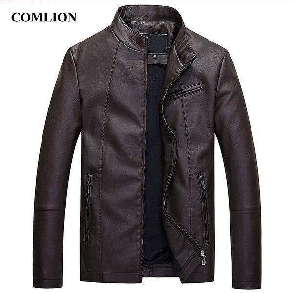Mens Leather Jackets Motorcycle Jacket Leather Men Classic Bike Cowboy Jacket Male Plus Velvet Thick Coats Brand Clothing C94