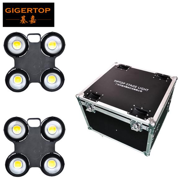2IN1 Flightcase Pack 4x100W White Color 3200k 5600k 6500k Outdoor Stage Led Audience Light 4 eyes Blinder Light IP65 Rain Working 110v-220v