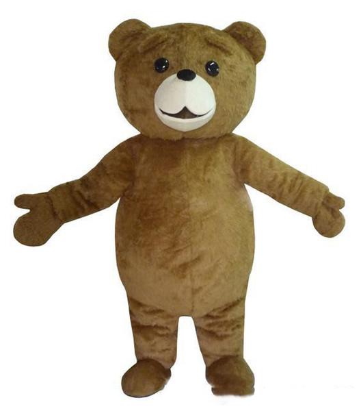 Professional custom brown plush Teddy Bear Mascot Costume Cartoon huge fat bear Character Clothes Christmas Halloween Party Fancy Dress