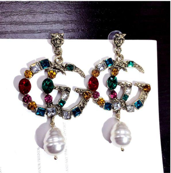 Nova marca designer de luxo G carta do parafuso prisioneiro brincos jóias de ouro, prata, presentes de casamento das mulheres de ouro frete grátis