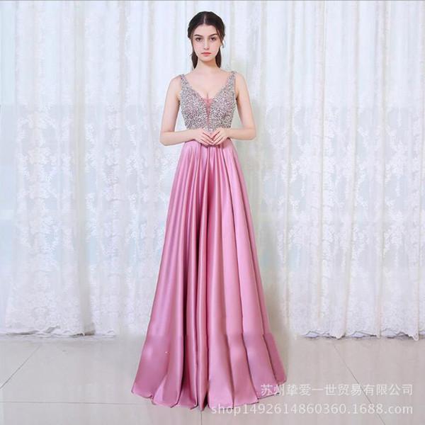 Compre Vestido De Noche De Fiesta 2018 Verano Nuevo Elegante Delgado Delgado Sexy Anfitrión Vestido Largo Mujer A 7739 Del Lyqing0623