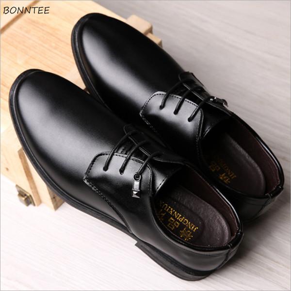 Erkek Elbise Ayakkabı Basit Trendy Klasik Eğlence Tüm Maç Kore Tarzı kaymaz Ayakkabı Erkekler Gentleman Retro Sivri Burun Deodorantı