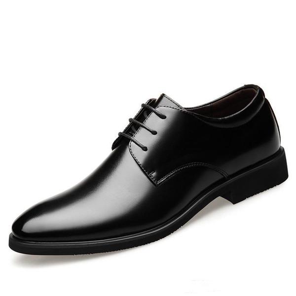 Yükseklik 6cm Asansör Düğün Ayakkabı Erkekler Oxfords Şık Erkekler Resmi elbise ayakkabı 2019 Damat Oxford Business Parti Ayakkabı Artırma