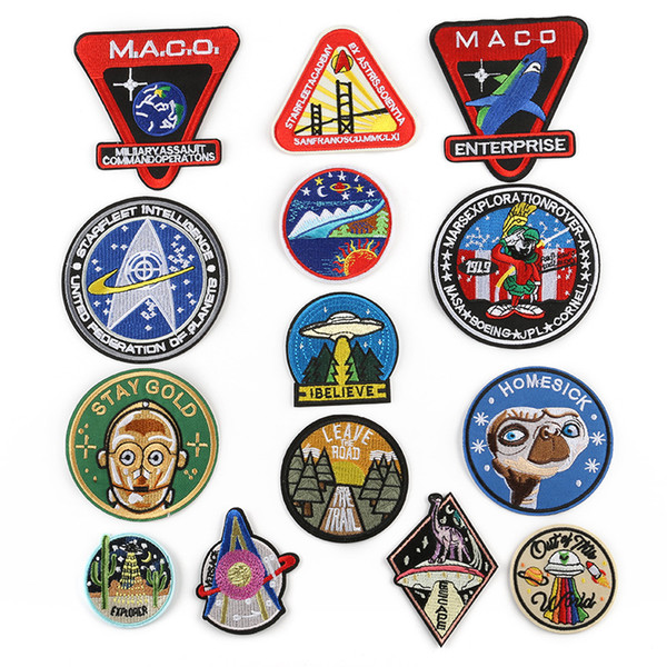 2019 UFO Alien Embroidery Patches Sew Iron On Applique Repair Badge Clothes  Patch For Jackets Jeans Garment Bag From Awonder, $0 71 | DHgate Com