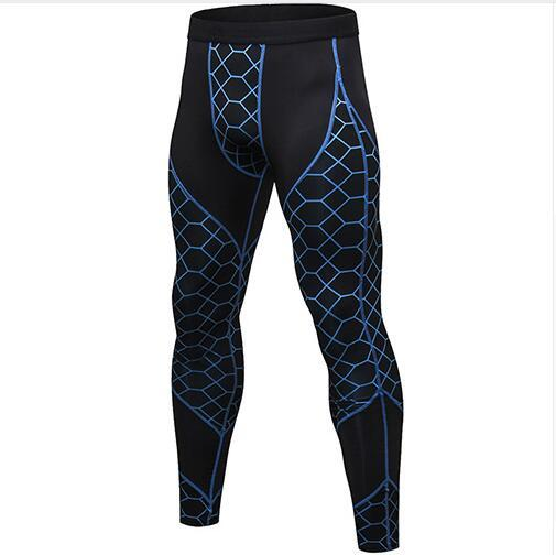 Hot Sale Casual Striped Compression Pants Sports Running Tights Men Jogging Skinny Leggings Joggers Fitness Gym Clothing Yoga Pants