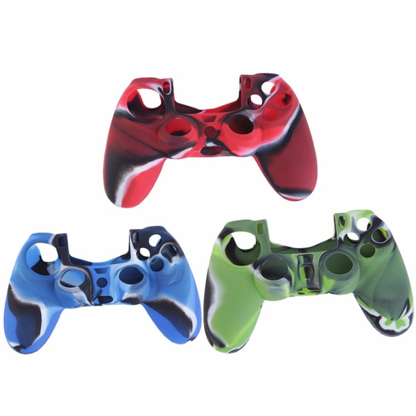 Camouflage Soft Silicone Cover Case Protection Skin For Sony Playstation 4 for Dualshock 4 Controller for PS4 Console Decals
