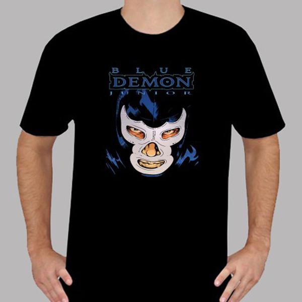 Yeni Mavi Demon Genç Güreş Efsanesi erkek Siyah T-Shirt Beden S 3XL Klasik Kalite Yüksek Tişört ceket hırvatistan deri tshirt