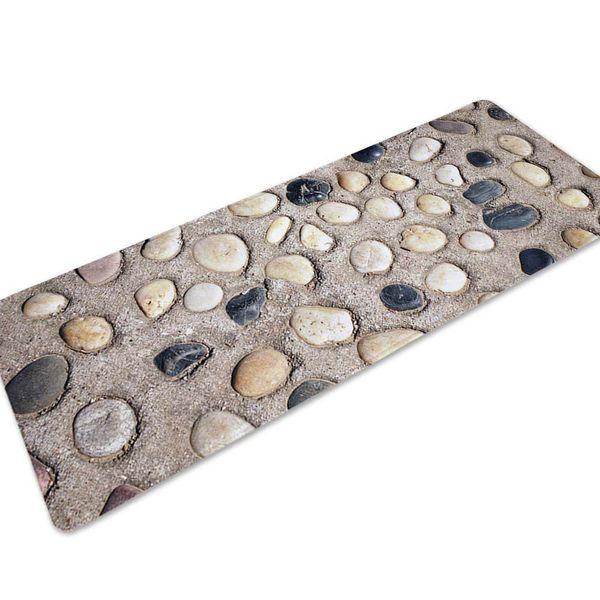 3D Stone Entrance Doormat Anti-slip Long Kitchen Mats Bathroom Bedroom Carpet Soft Table Office Footcloth Bath Rugs